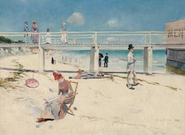 A Holiday at Mentone by Charles Conder (1888) © Art Gallery of South Australia, Adelaide