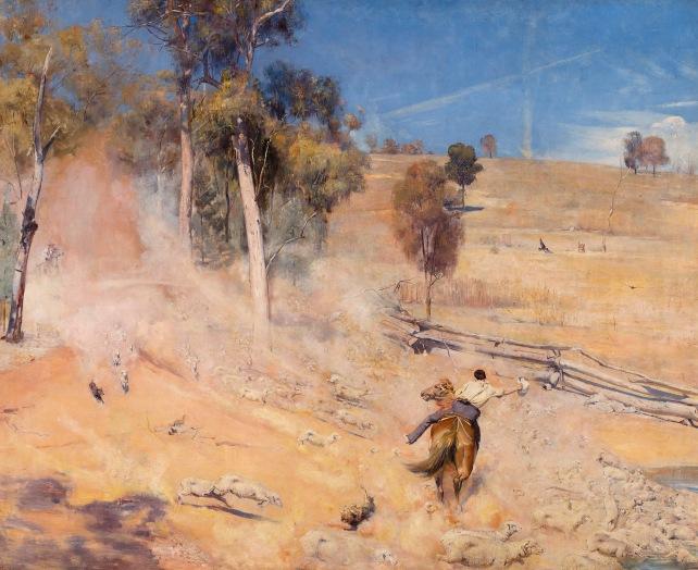 A Break Away! by Tom Roberts (1891) © Art Gallery of South Australia, Adelaide