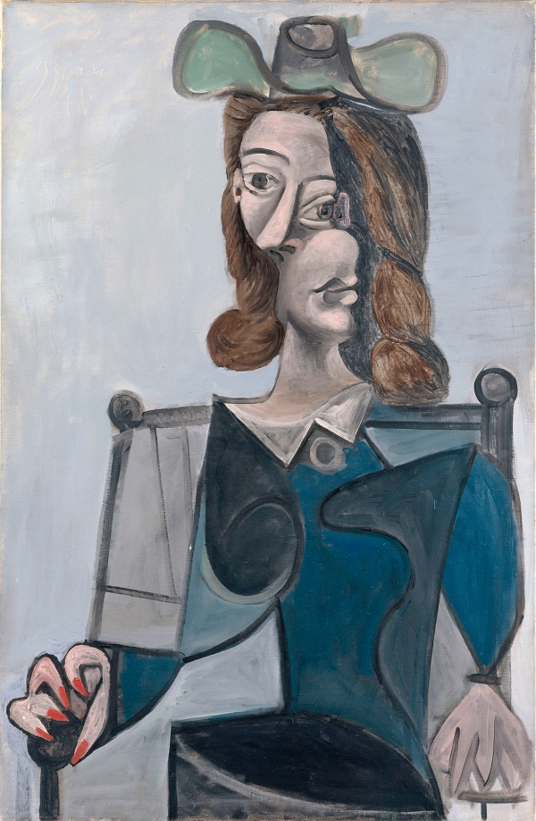 Woman in a Hat, 9 June 1941 by Pablo Picasso (1941) Musée Picasso, Paris. © Succession Picasso/DACS, London 2016 © RMN-Grand Palais (Musée Picasso de Paris) / Jean-Gilles Berizzi © Succession Picasso/DACS London, 2016