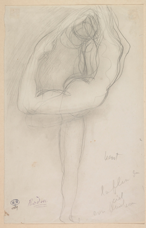 Standing Nude Holding Her Right Leg by Auguste Rodin (c.1903) Musée Rodin, Paris, France