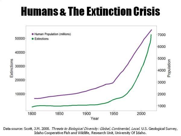 Human population against extinction rates (Source: http://www.biologicaldiversity.org/programs/population_and_sustainability/extinction/extinction)