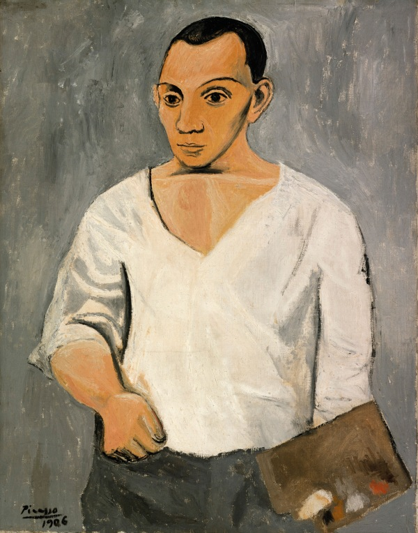 Self-Portrait with Palette by Pablo Picasso (1906) Philadelphia Museum of Art: A. E. Gallatin Collection 1950 © Succession Picasso/DACS, London 2016