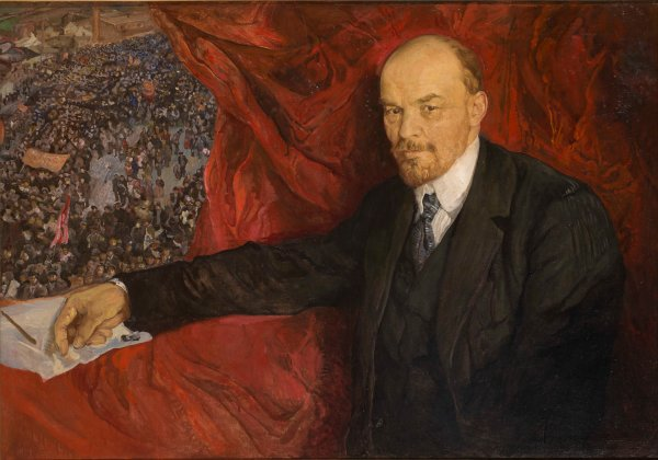 V.I.Lenin and Manifestation (1919) by Isaak Brodsky. The State Historical Museum. Photo © Provided with assistance from the State Museum and Exhibition Center ROSIZO