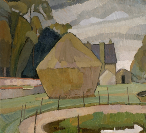 Landscape with Haystack, Asheham (1912) by Vanessa Bell © The Estate of Vanessa Bell, courtesy of Henrietta Garnett