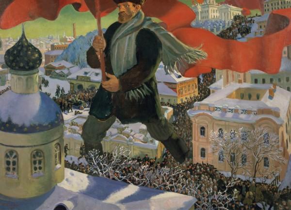Bolshevik (1920) by Boris Mikailovich Kustodiev. State Tretyakov Gallery. Photo © State Tretyakov Gallery