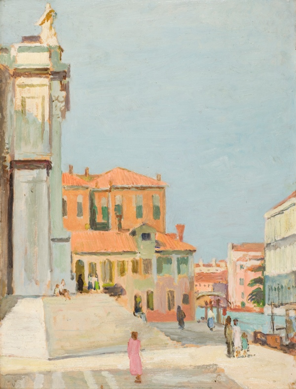 On the Steps of Santa Maria Salute, Venice (1948) by Vanessa Bell © The Estate of Vanessa Bell, courtesy of Henrietta Garnett. Photo credit: The Bloomsbury Workshop