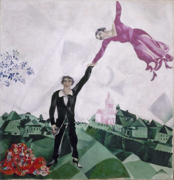 Promenade (1917-18) by Marc Chagall. State Russian Museum, St. Petersburg. Photo © 2016, State Russian Museum, St. Petersburg © DACS 2016
