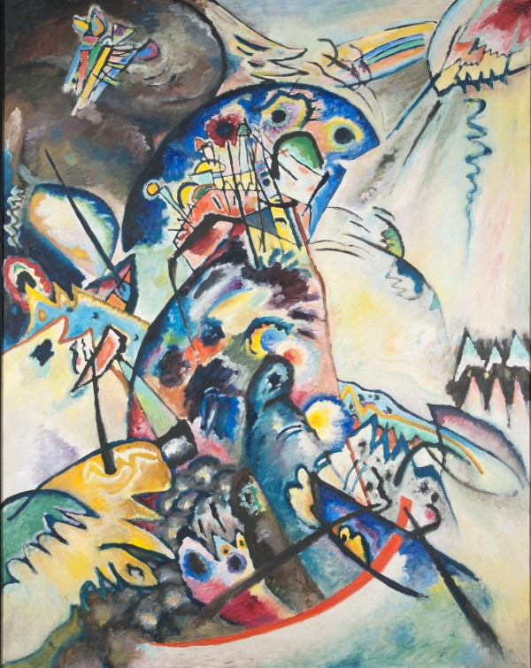 Blue Crest (1917) by Wassily Kandinsky. State Russian Museum, St. Petersburg. Photo © 2016, State Russian Museum, St. Petersburg