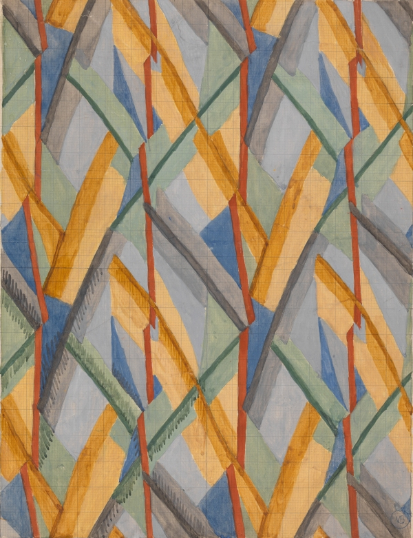 Design for Omega Workshops Fabric (1913) by Vanessa Bell © The Estate of Vanessa Bell, courtesy of Henrietta Garnett