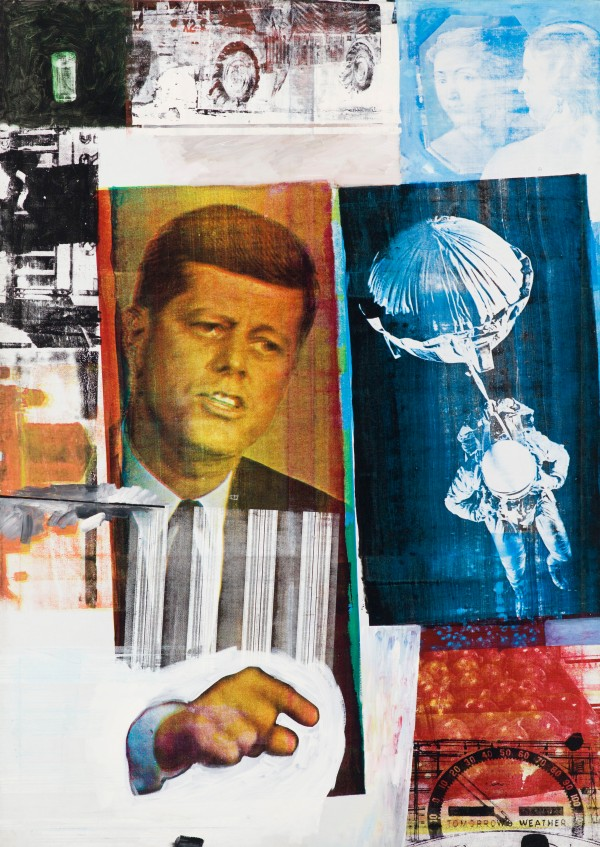 Retroactive II (1964) by Robert Rauschenberg © Robert Rauschenberg Foundation, New York. Photo: Nathan Keay © MCA Chicago