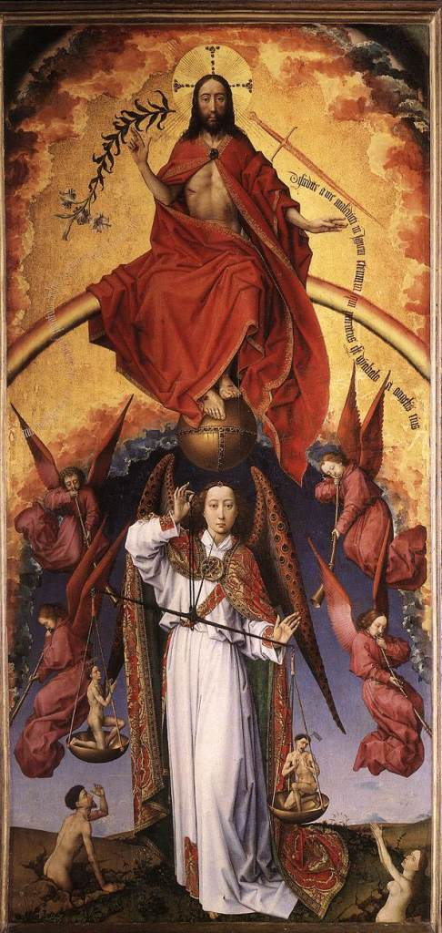 Jesus Christ and the Archangel Michael in judgement by Rogier van der Weyden