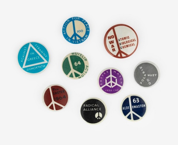 © Campaign for Nuclear Disarmament (CND) Badges courtesy of Ernest Rodker