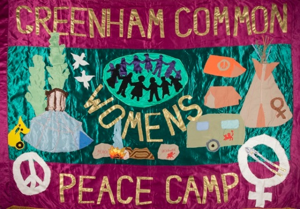 Banner by Thalia Campbell © Thalia Campbell courtesy of The Peace Museum