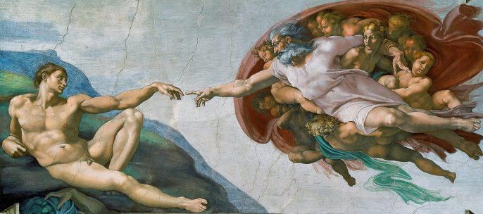 The Creation of Man by Michelangelo (1512)