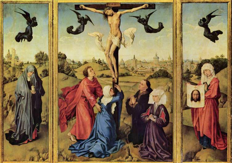 The Crucifixion Triptych by Rogier van der Weyden