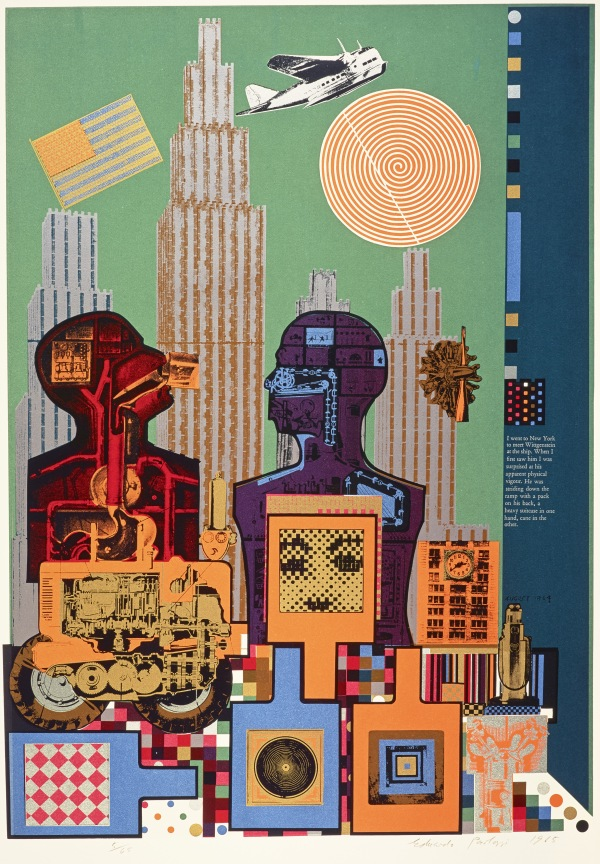 Wittgenstein in New York (1965) Courtesy Scottish National Gallery of Modern Art © Trustees of the Paolozzi Foundation, licensed by DACS