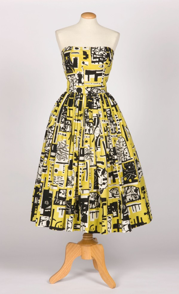 Cocktail Dress for Horrockses Fashions (1953) Photography by Norwyn Ltd. Courtesy the Harris Museum and Art Gallery, Preston © Trustees of the Paolozzi Foundation, licensed by DACS