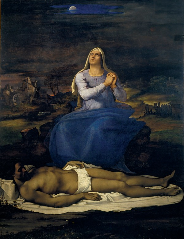 Lamentation over the Dead Christ (1512-16) by Sebastiano del Piombo. Museo Civico, Viterbo © Comune di Viterbo