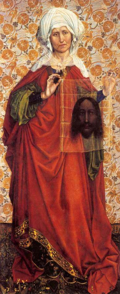 Saint Veronica Displaying the Sudarium (c.1430) by Robert Campin