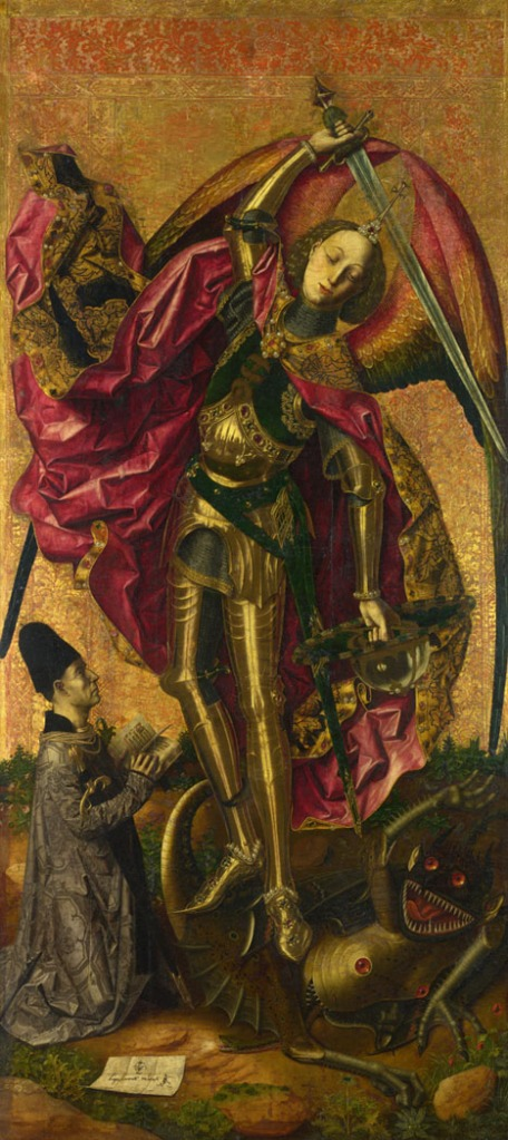 Saint Michael Triumphs over the Devil (1468) by Bartolomé Bermejo