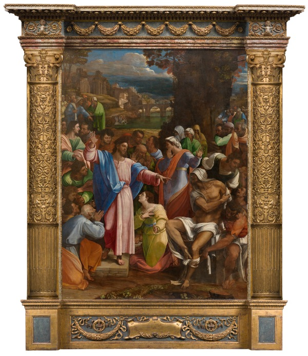 The Raising of Lazarus (1517-19) by Sebastiano del Piombo, incorporating designs by Michelangelo © The National Gallery, London