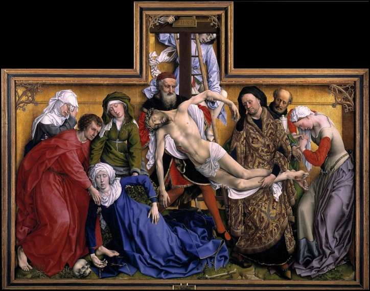 The Descent from the Cross (or Deposition of Christ) by Rogier van der Weyden created (c. 1435)