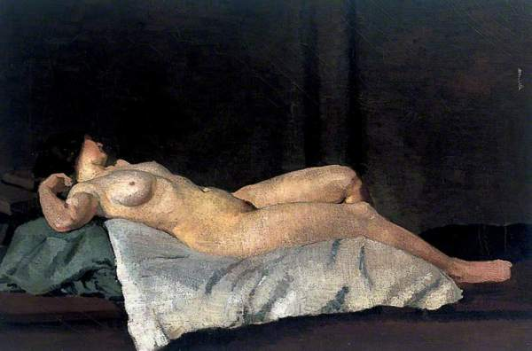 Female Figure Lying on Her Back