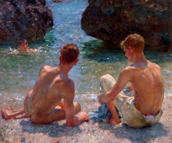 The Critics (1927) by Henry Scott Tuke. Warwick District Council (Leamington Spa, UK)