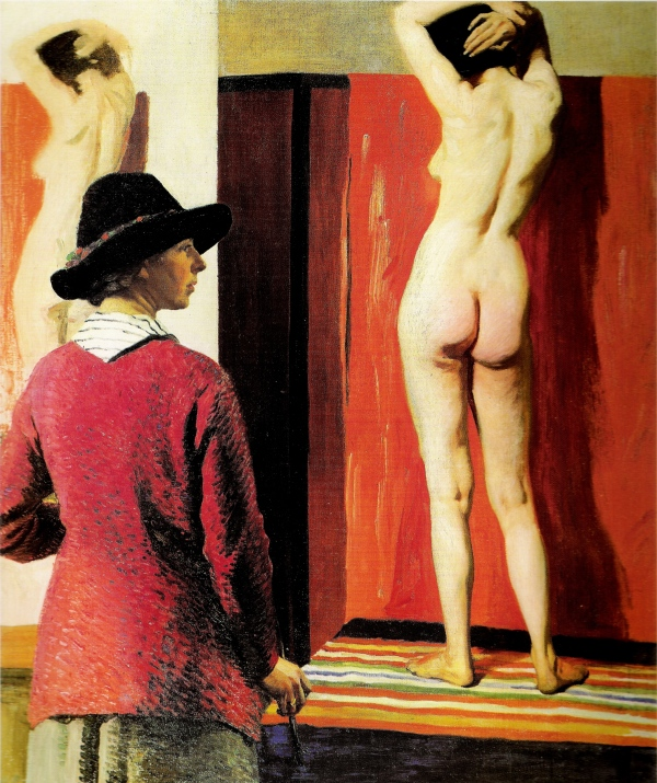 Self portrait and Nude (1913) by Laura Knight. National Portrait Gallery