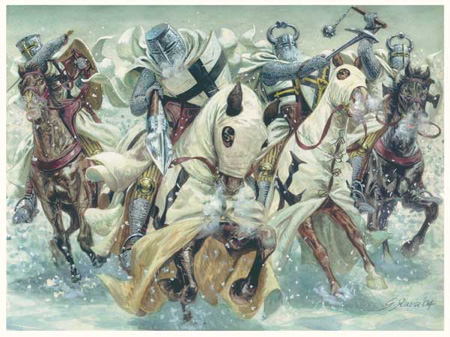 Charge of the Teutonic Knights at the Battle of Lake Peipus, April 5, 1242
