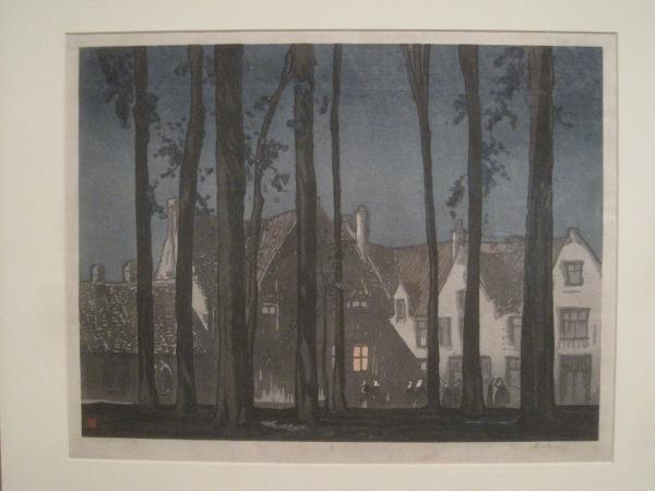 Bruges by night: Frank Brangwyn & Yoshijiro Urushibara