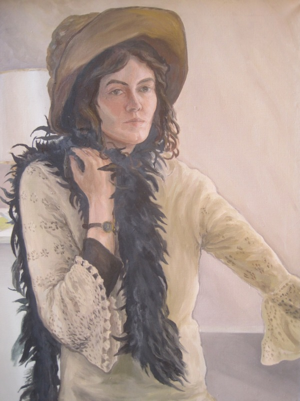 Self-portrait by Lucinda Mackay (1971)