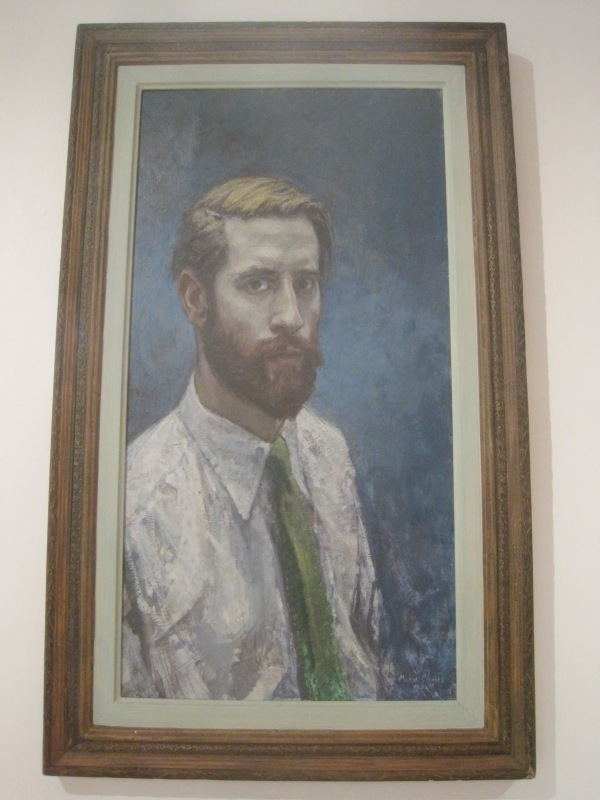 Self-portrait with a beard by Michael Noakes (1958)