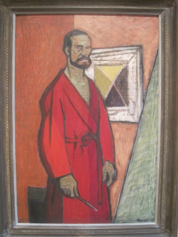 Self-portrait with a beard by Marek Zulawski (1949)