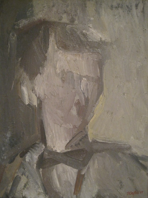 Self-portrait by Dennis Creffield (1959)