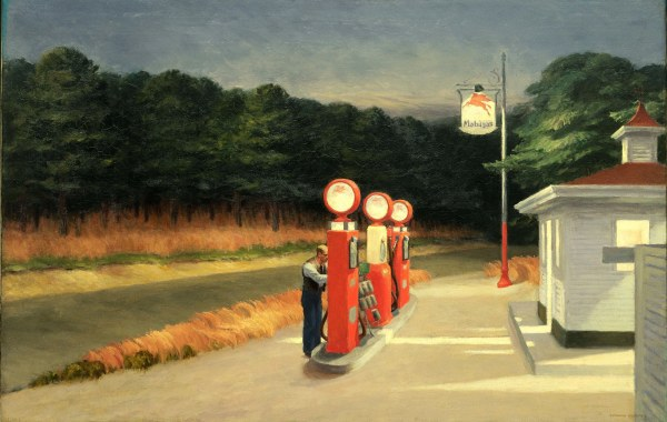 Gas (1940) by Edward Hopper. Photo (c) 2016 Digital image, The Museum of Modern Art, New York/Scala, Florence