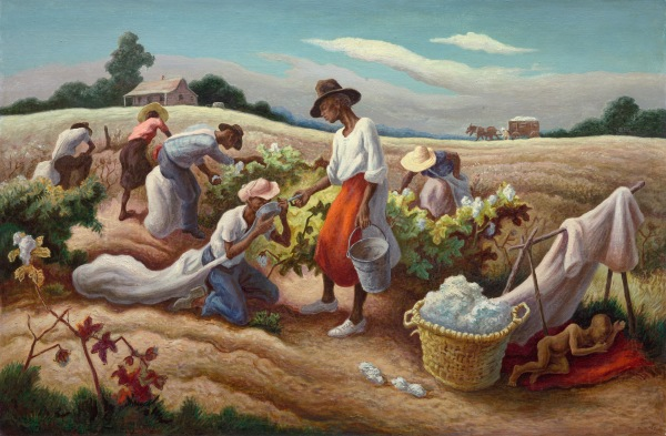 Cotton Pickers (1945) by Thomas Hart Benton (c) Benton Testamentary Trusts/UMB Bank Trustee/VAGA, NY/DACS, London 2016