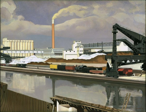 American Landscape (1930) by Charles Sheeler. Photo (c) 2016. Digital image, The Museum of Modern Art, New York/Scala, Florence