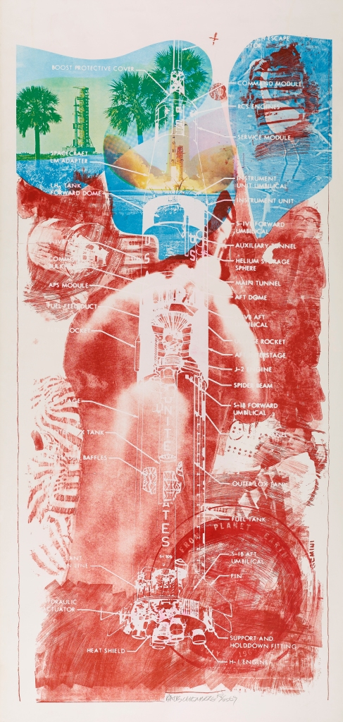 Sky Garden from Stoned Moon. Colour lithograph and screenprint (1969) by Robert Rauschenberg © Robert Rauschenberg Foundation/DACS, London/VAGA, New York