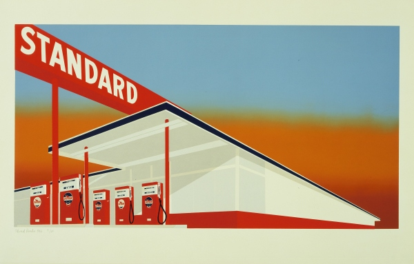 Standard Station. Colour screenprint (1966) by Edward Ruscha. The Museum of Modern Art, New York/Scala, Florence. © Ed Ruscha. Reproduced by permission of the artist