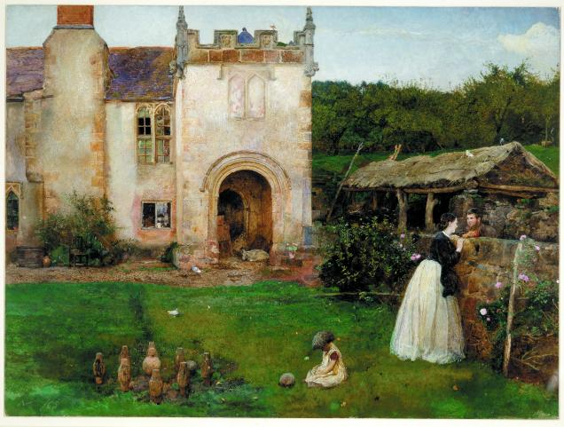 'The Old Bowling Green', Halsway Court, Somerset (1865) by John William North. Watercolour with bodycolour © The Trustees of the British Museum