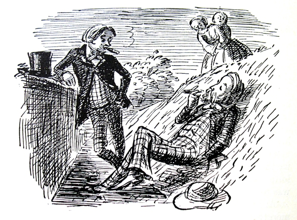 Bertie in the ha-ha - Edward Ardizzone illustration for Barchester Towers (1953) © The Estate of Edward Ardizzone