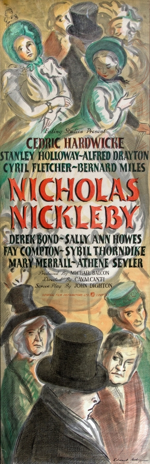Nicholas Nickleby film poster by Edward Ardizzone