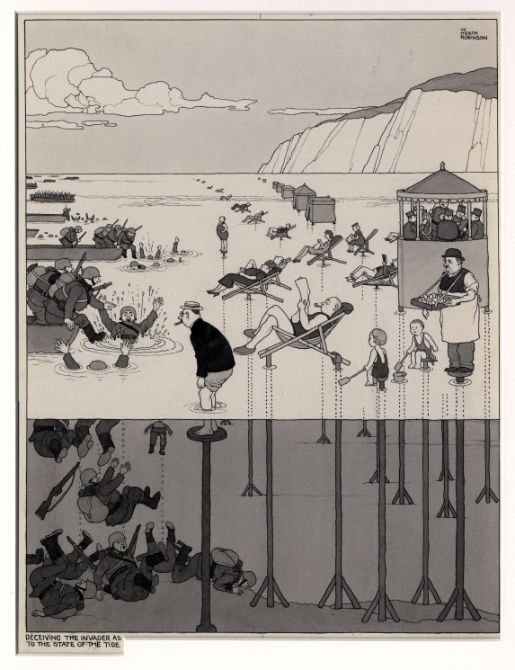 Deceiving the Invader by William Heath Robinson