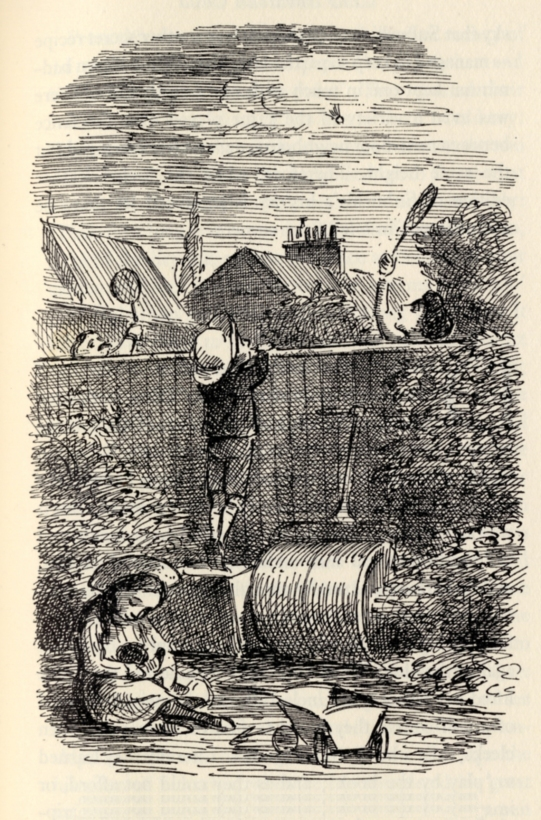 Badminton was the game of suburbia's great days - illustration by Edward Ardizzone © The Estate of Edward Ardizzone