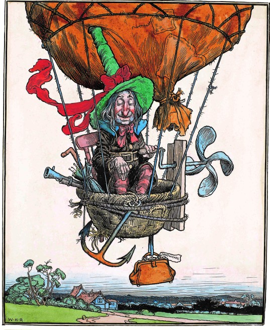 The Aeronaut from The Adventures of Uncle Lubin (1902) by William Heath Robinson