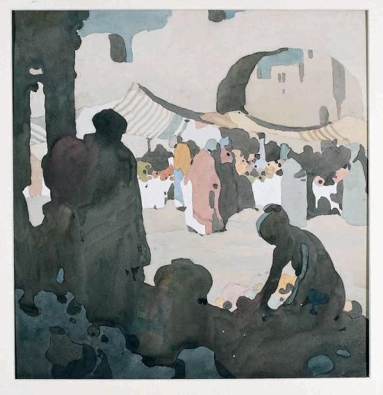 Eastern Market Scene by William Heath Robinson