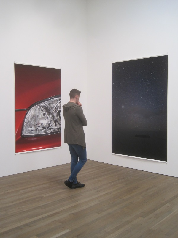 Installation view of Wolfgang Tillmans at Tate Modern featuring Headlight