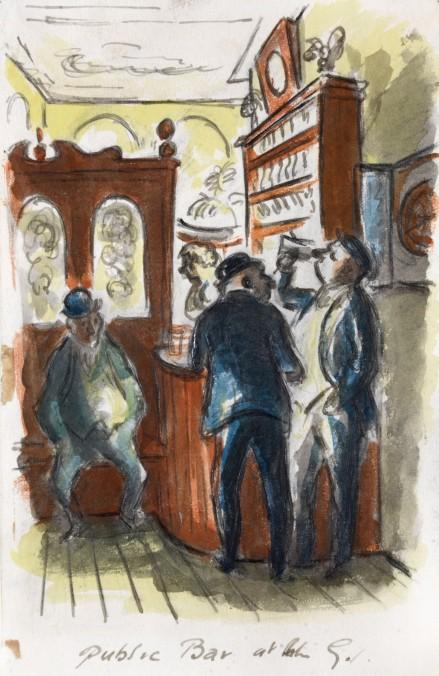 Public Bar at the George by Edward Ardizzone