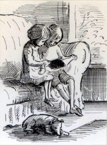 Edward Ardizzone illustration to The Little Bookroom by Eleanor Farjeon (1955)